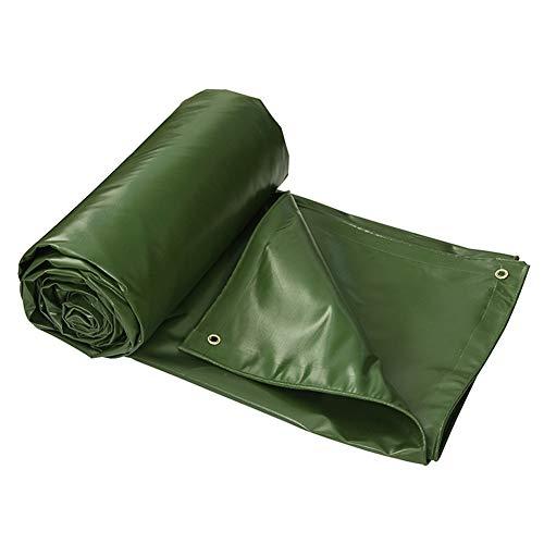 ZEMIN Bâche Protection Couverture Transparente Imperméable Crème Solaire Tente Drap Haute Qualité Plein Air PVC, Vert, 580G/ M², 8 Tailles Disponibles (Color : Green, Size : 3.8x4.9m)