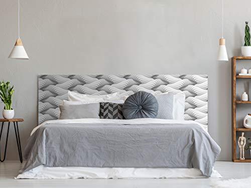 Cabecero Cama PVC Textura Futurista 150x60cm | Disponible en Varias Medidas | Cabecero Ligero, Elegante, Resistente y Económico
