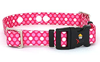Replacement Receiver Collar Straps for All Brands Electric Dog Fences   Pink Dot   PetSafe Invisible Fence SportDOG More  Up to 26  Neck