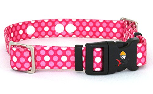 """Invisible Fence Collar Compatible Heavy Duty Replacement Strap with The Rugged Lock-Easy Release Clip - Pink Dots 