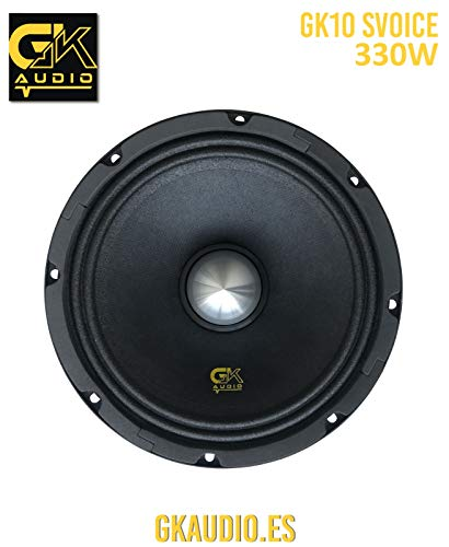 GK Audio GK10 SVOICE Medio para Coche SPL COMPETICIÓN (Competition) Car Hi-Fi; Alta Potencia Speaker, Mid Bass, Tweeter, subwoofer PA