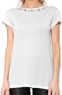 Camiseta Fitness Estampada Feminina Branco Fit Colcci
