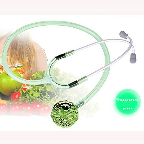 Honey Stethoskop, Kristallstethoskop, Brillante Farbe, Guter Leitungseffekt, 6 Farben Erhältlich,transparentgreen