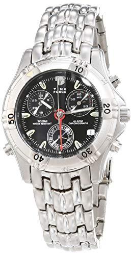 TIME FORCE Analog Quarz Uhr mit Edelstahl Armband TF6679-02M