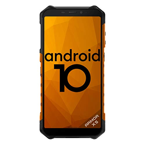 Rugged Smartphones Unlocked, Android 10, Ulefone Armor X5 2020, Waterproof IP68 Tough Phone, Dual SIM Cards, 4G Global LTE, 5000mAh Battery, Face Recognition, Bluetooth, NFC, US Version - Orange
