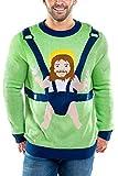 Men's Sweet Baby Jesus Christmas Sweater: Green X-Large