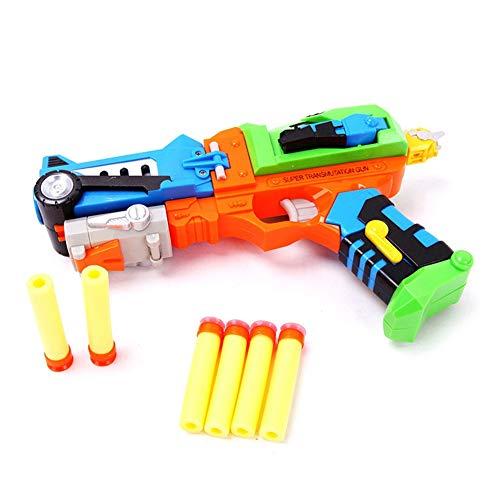 liansheng Deformation Toy Gun Sucker Darts Children's Color Toy Gun with Soft Bullets Best Children's Birthday Gift