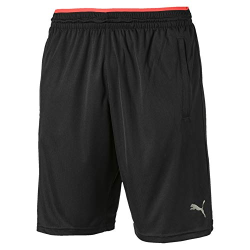 PUMA Herren Collective Knit Short Black-NRGY Red, XXL
