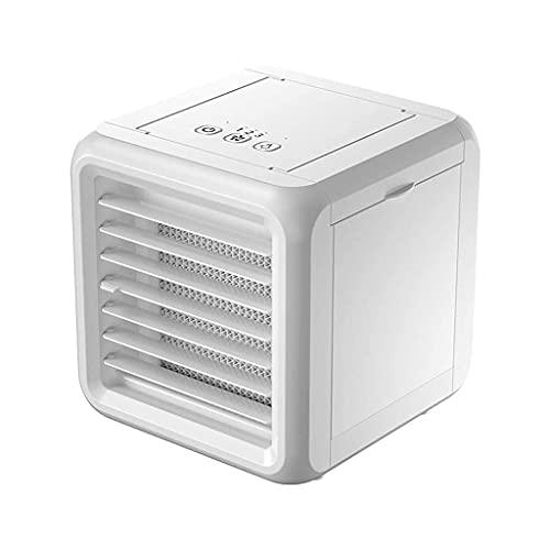 Apartamento de aire acondicionado, sin manguera de escape Ventilador / Mini Aire acondicionado USB Pequeño refrigerador de aire Portátil Desktop Refrigeración Ventilador Doble tanques Colorido Luces L