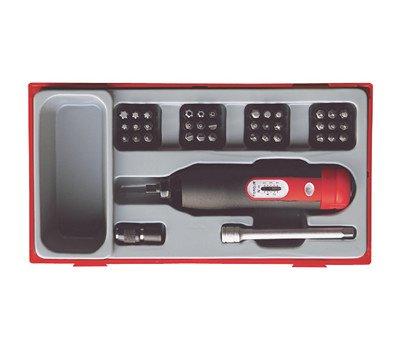 Tengtools TTSD39 - Juego de destornillador dinamométrico, alargadera 1/4' y 36 puntas