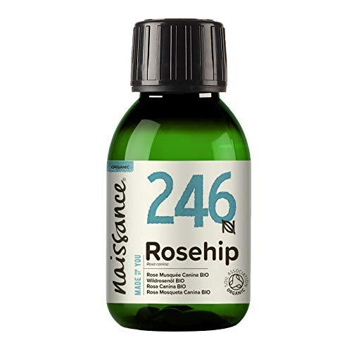 Naissance Huile de Rose Musquée Vierge Certifiée BIO (n° 246) - 100ml - 100% pure, naturelle et pressée à froid - pour le soin du corps, des cheveux, du visage, et des ongles