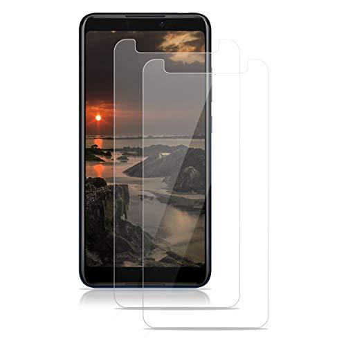 ROVLAK Panzerglas für Wiko Y70 Schutzfolie 2 Stück Panzerglasfolie 9H Festigkeit Bildschirmschutz Anti-Kratzen Tempered Screen Protector 2.5D Schutzglas HD Klar Folie für Wiko Y70