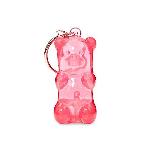 Gummygoods Bite-Sized Gummy Bear Keychain Kids Nightlight, LED Light, Battery Included, (Pink)