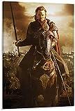 Unikei Druck Auf Leinwand Herr der Ringe Aragorn Poster