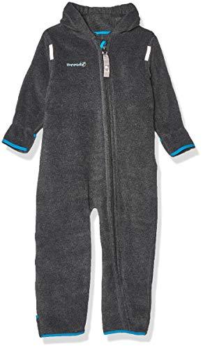 HOPPEDIZ Fleece-Overall für Baby und Kleinkind, anthrazit, 80-86
