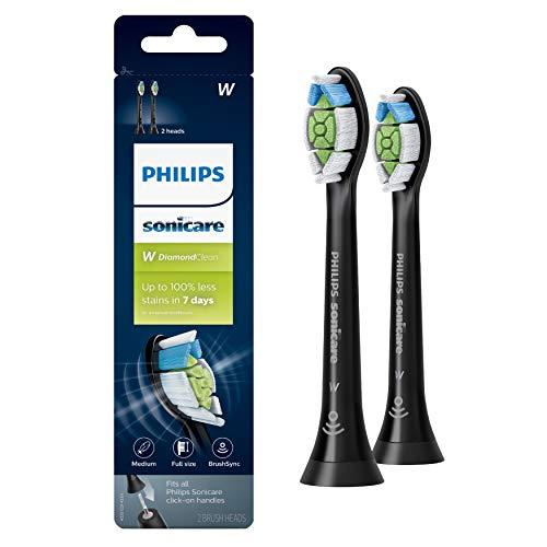 Genuine Philips Sonicare DiamondClean Toothbrush Head, 2 Pack, Black, HX6062/95