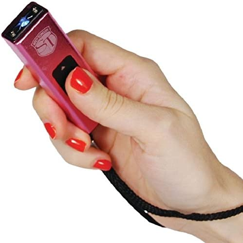 Amazon.com : Safety Technology Mini Keychain LED Slider Stun Gun Pink 10  Million Volts : Sports & Outdoors