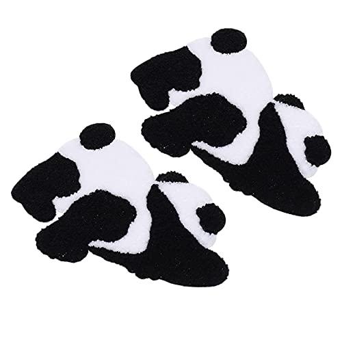 HEALLILY 2 Piezas Panda Hierro en Parches Bordado Motivo Apliques Coser en Insignia Pegatina Coser Calcomanías de Reparación para DIY Jeans Chaqueta Niños Ropa Bolsa Gorras