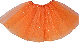 Metermall Women Gauze Tutu Skirt Short Pleated Pettiskirt with Star Sequins