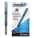 PILOT Precise V7 Stick Liquid Ink Rolling Ball Stick Pens, Fine Point, Blue Ink, 12 Count (35349)