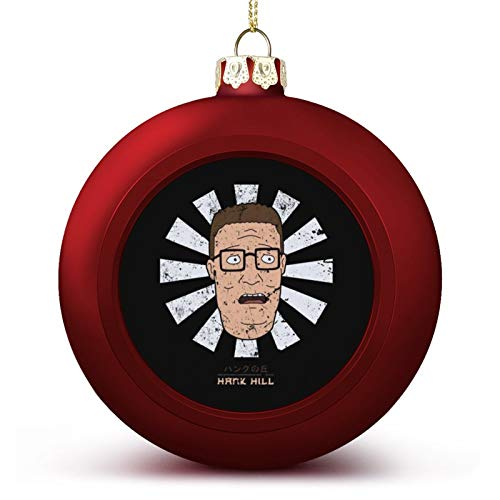 VNFDAS King of The Hill Retro Japanese Hank Custom Christmas ball ornaments Beautifully decorated Christmas ball gadgets Perfect hanging ball for holiday wedding party decoration