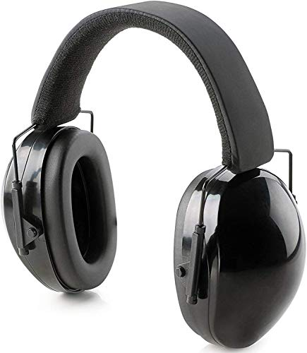 Orejeras de protección auditiva profesionales, totalmente ajustables con cancelación de ruido, protección para campo de tiro, jardinería, carpintería, para adultos y niños, incluye bolsa para viaje