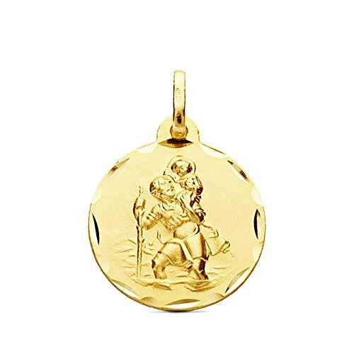 Medalla oro 9k San Cristobal 18mm. 1,60gr. [AB3270]