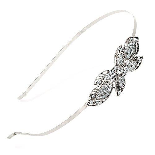 Chelsea Jones - Vintage/Antique Style Silver Coloured Crystal/Diamante Headband Tiara