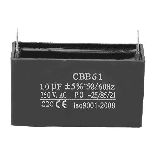 Condensador de generador 2 pines 350VAC 10UF + -5% 50 / 60Hz CBB61 para condensador de arranque