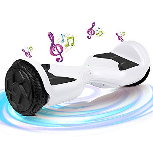 SISGAD Hoverboard, Électrique Gyropode 6,5 Pouces LED Hoverboard Self Balance Scooter, 2...