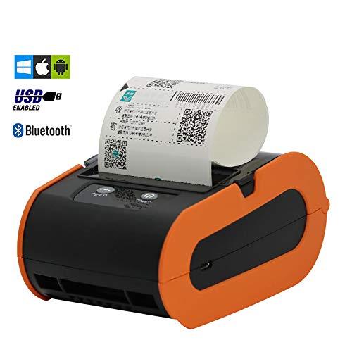 Printers 80 mm thermobonprinter, draagbare Bluetooth thermobonprinter voor computer/iPad/mobiele telefoon printers
