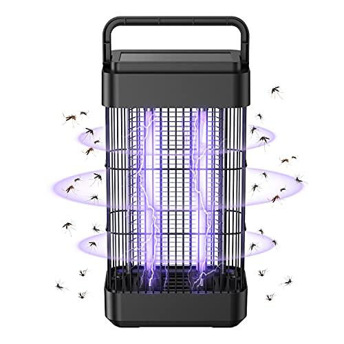 Exatfina 2400V Elektrischer Insektenvernichter Mückenkiller,18W UV Insektenfalle Mückenlampe, Metallgitter Fliegenfänger,Moskitoschutz Sicher,Ungiftig,Geeignet für Schlafzimmer Wohnzimmer Garten Lager