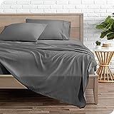 Bare Home Queen Sheet Set - 1800 Ultra-Soft Microfiber Queen Bed Sheets - Double Brushed - Queen Sheets Set - Deep Pocket - Bedding Sheets & Pillowcases (Queen, Grey)