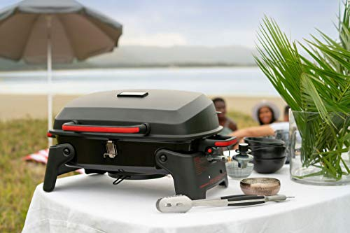 Megamaster 820-0065C Propane Gas Grill, Red + Black