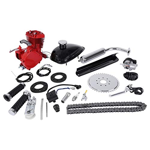 Lnarniaw 80cc Bicycle Engine Kit 2-Stroke Cycle Petrol Gas Motor Engine Kit for Motorized Bicycle 26'/28' Bike Bicycle Moped Scooter Kit