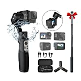 Hohem iSteady Pro 3 Cámaras de acción Gimbal Handheld Gimbal Stabilizer 3 Axis IPX4 Splash Proof Compatible con GoPro Hero 8/7/6/5/4/3, dji OSMO Action, Insta360 One R, Sony RX0 Wi-Fi Conexión rápida
