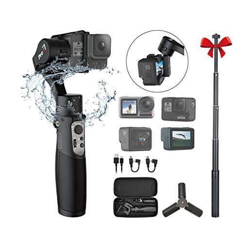 Hohem iSteady Pro 3 Action Camera Gimbal Stabilizzatore cardanico palmare Gimbal 3 assi IPX4 antispruzzo compatibile con GoPro Hero 8/7/6/5/4/3, DJI OSMO Action, Insta360 one R, SONY RX0