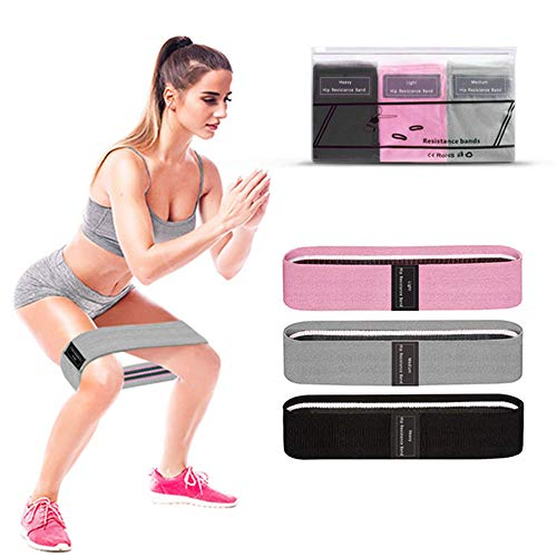 toisgo Resistance Loop Bands, Resistance Strength Booty Hip Leg Bands for Home Fitness,Stretching,Strength Training,Physical Therapy,Natural Latex Workout Bands for Men and Women(3 Pack Set)
