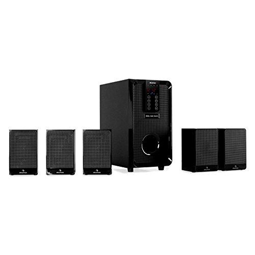 Auna Areal 520 Home Theatre 5.1 (100 Watt MAX, subwoofer Bassreflex, Modalità Pro Logic, 5 Altoparlanti Satelliti, Telecomando) - nero
