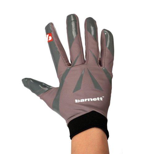 BARNETT FRG-03 American Football Handschuhe Empfänger Receiver Profi, RE,DB,RB grau (L)