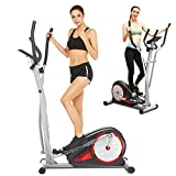 ANCHEER Elliptical Machine for Home Use, Elliptical Trainer for Home Use with Pulse Rate Grips and LCD Monitor, Magnetic Smooth Quiet Driven Max 350lbs