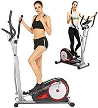 FUNMILY Elliptical Machines for Home Use, Elliptical Trainer Machines with LCD Monitor and Pulse Rate Grips Magnetic Smooth Quiet Driven Max Weight Capacity 350Lbs