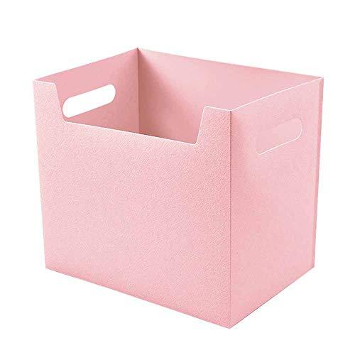 Storage Box Boîte de Rangement de Bureau, Porte-revues Pliable, Support de Remplissage de fichiers de Style Simple Moderne, boîte de Rangement de Travail, boîte de Rangement de Papeterie de Bureau