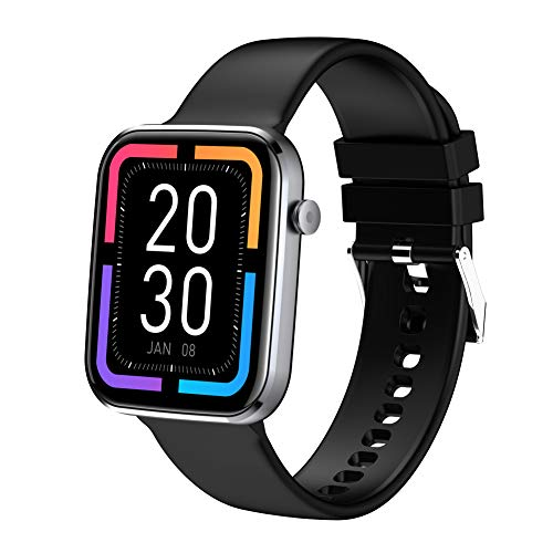 Smartwatch Orologio Fitness Donna Uomo Smart Fitness Tracker,1,69  Schermo Orologio Fitness con Saturimetro(SpO2), Cardiofrequenzimetro da polso Donna Uomo, Activity Tracker per Android iOS (Nero)