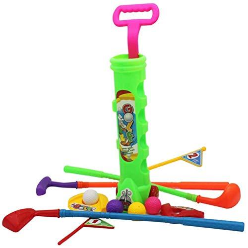 Gpzj Juego de Mini Golf de Juguete de plástico para jardín para niños