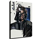 Anakin Skywalker and Darth Vader Character Wallpaper HD Print Canvas Art Living Room Wall Decoration Room Mural Office Decor Star Wars Posters (20X30inch,No Frame)