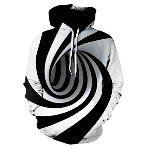 Hypnosis Vortex Hoodies Sweatshirt Herren Damen 3D Whirlpool Print Lustiger Hip Hop Trainingsanzug 4XL