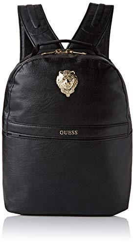 Guess City Lion Compact Backpack Men's Backpack, Multicolour (Black/Gold), 16x39.5x30.5 centimeters (W x H x L)