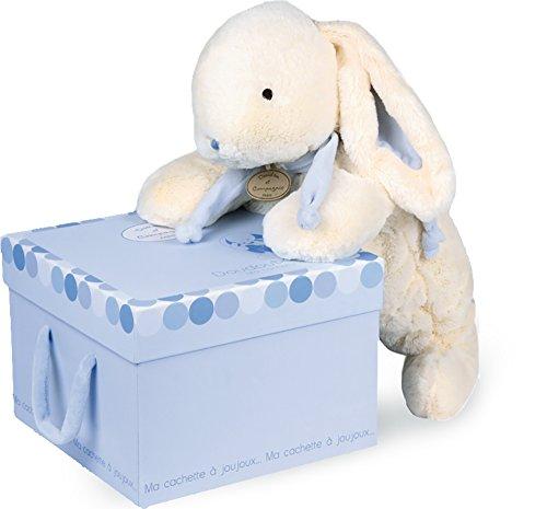 Preisvergleich Produktbild Doudou et Compagnie 1244 Lapin Bonbon Stofftier,  mit Platz für Pyjama,  Blau