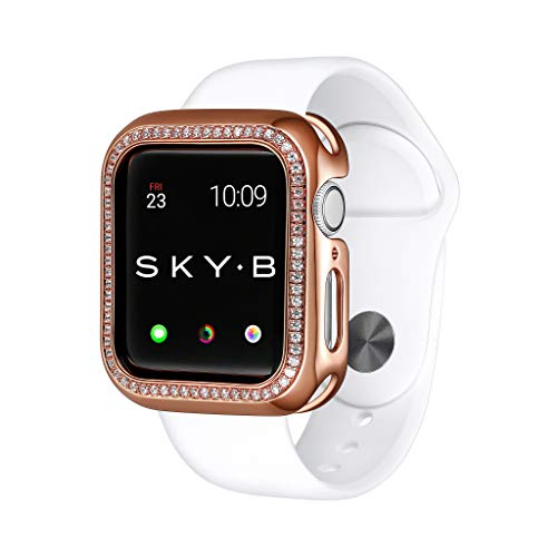 SKYB Halo Protective Jewelry Case for Apple Watch Series 1, 2, 3, 4, 5, 6, SE Devices - Rose Gold Color for 40mm Apple Watch